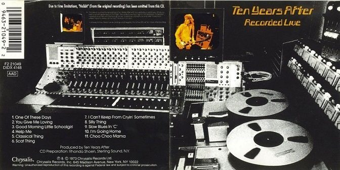 Ten Years After – Recorded Live, 1973