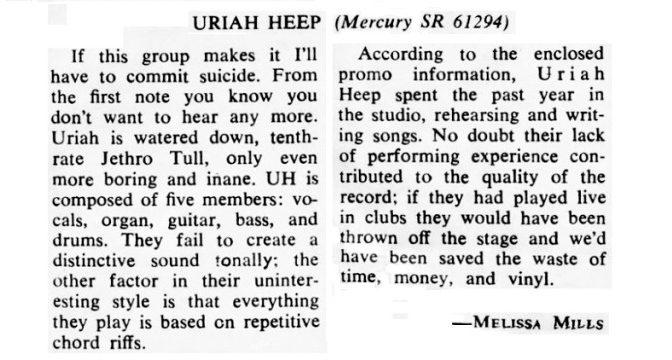 Uriah Heep – …Very 'Eavy …Very 'Umble, 1970