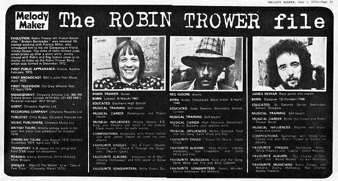 Robin Trower – Bridge of Sighs, 1974