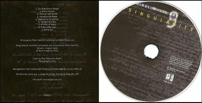 Peter Hammill – Singularity (2006)